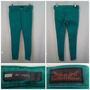 Levis womens juniors 535 leggings jeans Size 9M